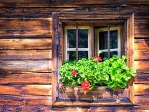 Oud venster Stock Afbeelding
