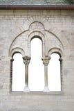 Oud venster in gernman kerk Stock Fotografie