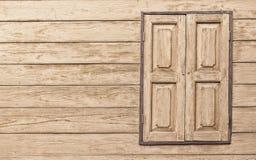 Oud venster met exemplaarruimte Royalty-vrije Stock Foto