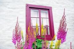 Oud venster van het verleden. Stock Fotografie