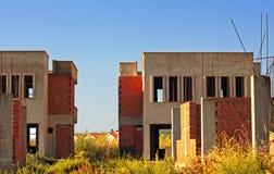 Oud verlaten bouwterrein Royalty-vrije Stock Foto's