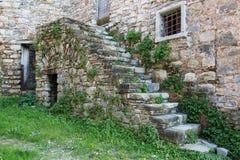 Oud verlaten dorp Royalty-vrije Stock Foto
