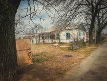 Oud verlaten huis Royalty-vrije Stock Afbeelding