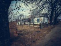 Oud verlaten huis Royalty-vrije Stock Foto's