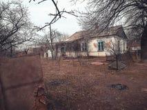 Oud verlaten huis Royalty-vrije Stock Foto