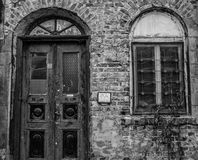 Oud verlaten huis in Burgas Royalty-vrije Stock Fotografie