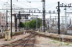 Oud verlaten station Stock Foto