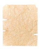Oud verpletterd pakpapier voor uw illustraties royalty-vrije stock afbeeldingen