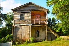 Oud Versleten Caraïbisch Huis stock fotografie