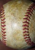 Oud Versleten Honkbal Stock Afbeelding