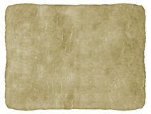 Oud Document op Witte Achtergrond. Royalty-vrije Stock Afbeelding