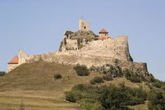 Oud versterkt Fort in Transsylvanië Roemenië stock afbeelding