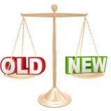 Oud versus Nieuwe Woorden op Saldoschaal het Wegen Vergelijking stock illustratie