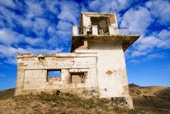 Oud vervallen huis stock fotografie