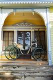 Oud vervoer bij Historisch Duits Museum van Valdivia, Chili stock foto's