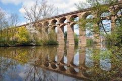 Oud viaduct in Bietigheim Stock Foto's