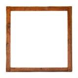 Oud vierkant houten frame knipsel Stock Fotografie