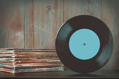 Oud Vinylverslag Stock Fotografie
