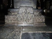 Oud Vishnu-beeldhouwwerkpaneel Stock Fotografie