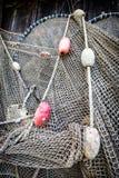 Oud visserijnet Stock Fotografie