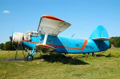 Oud vliegtuig Stock Foto