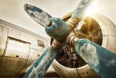 Oud vliegtuig stock fotografie