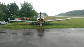Oud Vliegtuig Stock Afbeelding