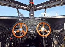 Oud vliegtuigbinnenland Stock Afbeelding