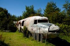 Oud vliegtuigwrak Stock Afbeeldingen
