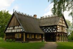 Oud volksplattelandshuisje Royalty-vrije Stock Afbeelding