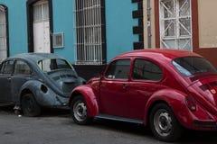 Oud Volkswagen in de straten van Mexico Royalty-vrije Stock Afbeeldingen