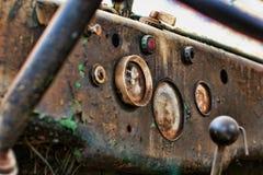 Oud vrachtwagenbinnenland Royalty-vrije Stock Foto