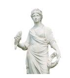 Oud vrouwenstandbeeld Royalty-vrije Stock Afbeeldingen