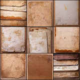 Oud, vuil karton stock fotografie