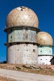 Oud waarnemingscentrum in bergen Serra da Estrella. Portugal Stock Afbeeldingen
