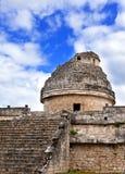 Oud waarnemingscentrum in Chichen Itza, Mexico Stock Afbeeldingen