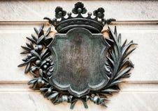 Oud wapenschild Stock Fotografie