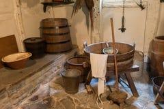 Oud wasserijbinnenland royalty-vrije stock afbeeldingen