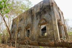 Oud Wat Wang Wiwekaram, Kanchanaburi-Provincie, Thailand, royalty-vrije stock foto's
