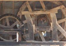 Oud watermillmechanisme - tandraderen Royalty-vrije Stock Afbeelding