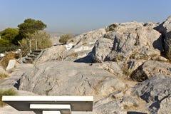 Oud wetshof van Areopagus, Athene, Gre Stock Foto's