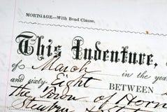Oud Wettelijk Document royalty-vrije stock foto's