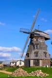 Oud windmolenlandschap Royalty-vrije Stock Foto's
