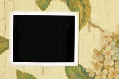 Oud wit fotoframe Stock Afbeeldingen