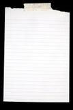 Oud wit gevoerd document. Stock Fotografie