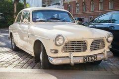 Oud wit Volvo Amazonië 121 B12 auto Stock Foto's