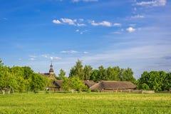 Oud Witrussisch dorp stock foto