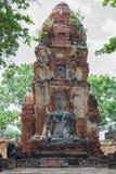 Oud zandsteenbeeldhouwwerk van Boedha Stock Foto's
