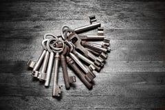 Oud Zeer belangrijk Ring Keys stock afbeelding