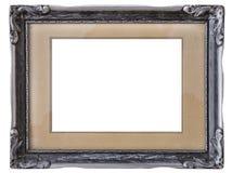Oud zilveren frame royalty-vrije stock foto's